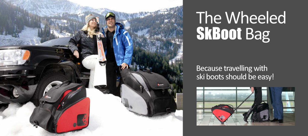 The rolling ski boot bag for more comfort
